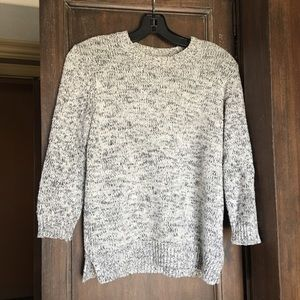 Theory 3/4 Sleeve Cotton Cashmere Crewneck Sweater